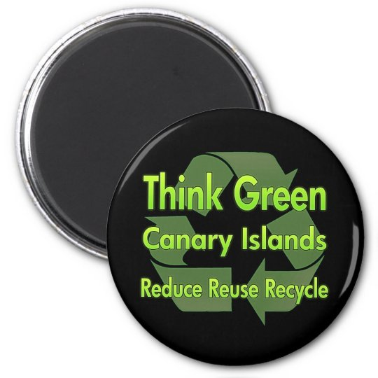 Think Green Canary Islands Magnet