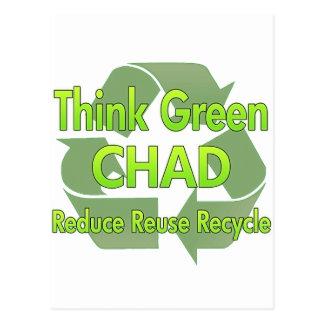 Think Green Chad Postcard