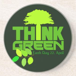 Think Green coaster