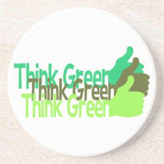 Think Green coaster - customize