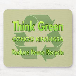 Think Green Congo Kinshasa Mouse Pad