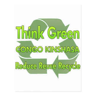 Think Green Congo Kinshasa Postcard