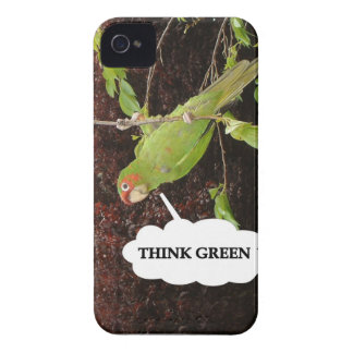 Think Green conure iPhone 4 Case-Mate Cases