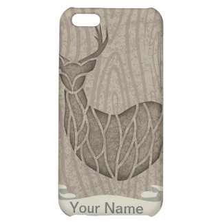 Think Green Deer wooden Case For iPhone 5C