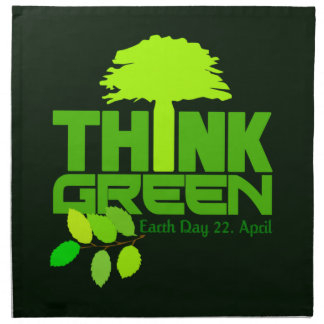 THINK GREEN (Earth Day) cloth napkins