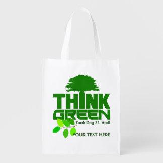 THINK GREEN (Earth Day) custom reusable bag