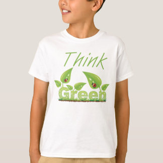 Think Green Earth Day ecology shirt