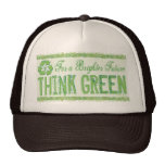 Think Green Earth Day Gear Mesh Hats