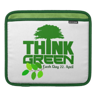 THINK GREEN (Earth Day) iPad / laptop sleeve