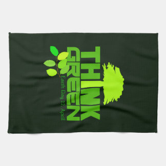 THINK GREEN (Earth Day) kitchen towels