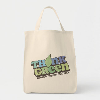 Think Green Earth Day Tote Bags