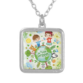 Think Green Eco Kids Personalized Necklace