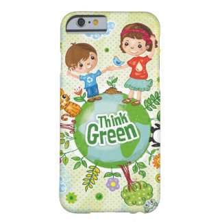 Think Green Eco Kids quote Barely There iPhone 6 Case