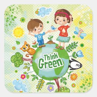 Think Green Eco Kids sticker