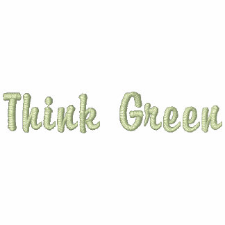 Think Green Embroidered Hoodie