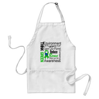 Think Green Environment Collage Apron