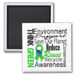Think Green Environment Collage Fridge Magnets