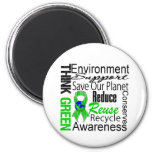 Think Green Environment Collage Magnets