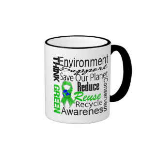 Think Green Environment Collage Coffee Mug