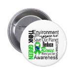 Think Green Environment Collage Pins