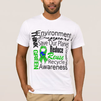 Think Green Environment Collage T-Shirt