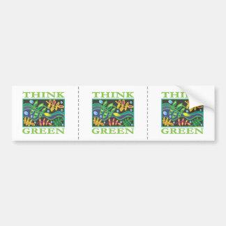 Think Green Environmental Bumper Sticker