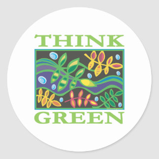 Think Green Environmental Classic Round Sticker