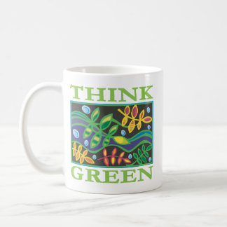 Think Green Environmental Basic White Mug