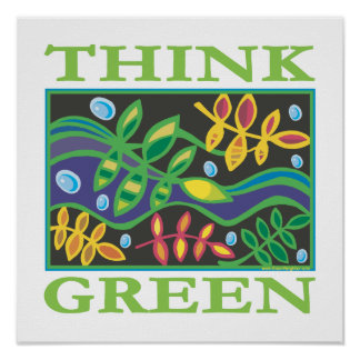 Think Green Environmental Poster