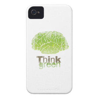 THINK GREEN Faded.png iPhone 4 Covers