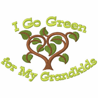 Think Green for Grandkids Embroidered Hooded Sweatshirts