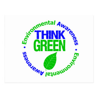 THINK GREEN for the Environment Postcard