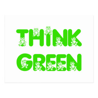 Think Green Frog Postcard