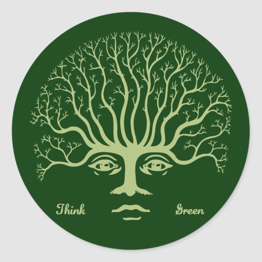 Think Green II Classic Round Sticker