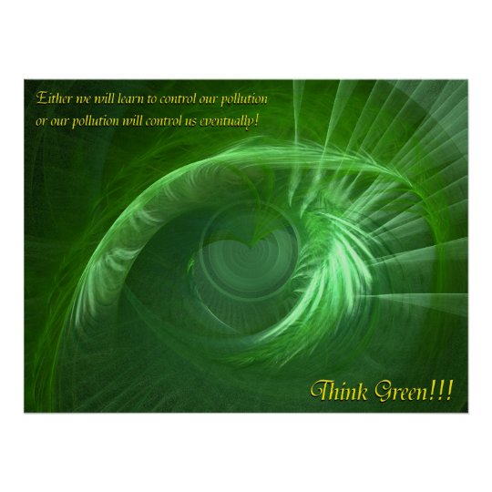Think Green Inspirational Poster