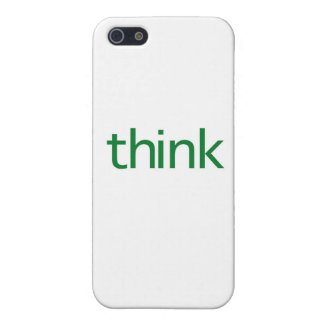 think (green) iPhone 5 cases