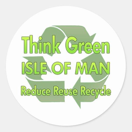 Think Green Isle Of Man Sticker