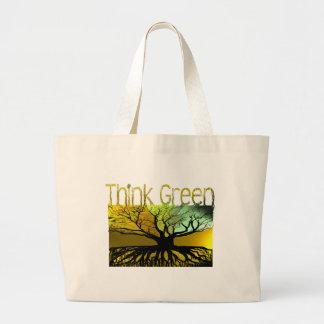 Think Green Jumbo Tote Bag