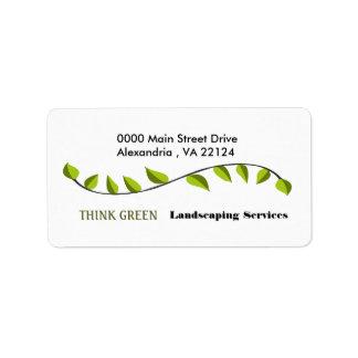 Think Green Landscaping Address Label