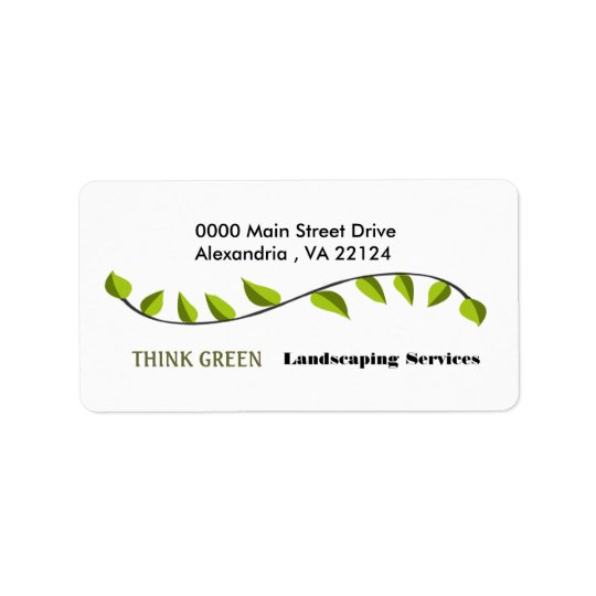 Think Green Landscaping Label