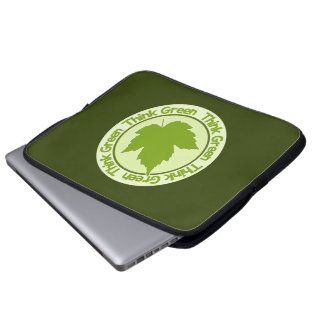 THINK GREEN laptop sleeves