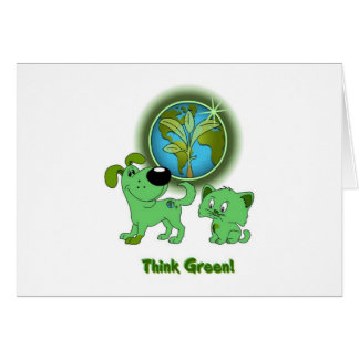Think Green Leaf and Blade Card