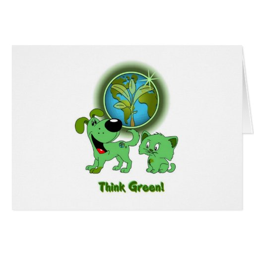 Think Green! (Leaf and Blade) Card