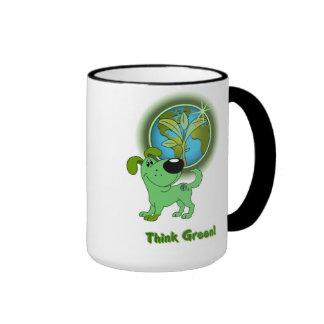 Think Green (Leaf) Coffee Mugs
