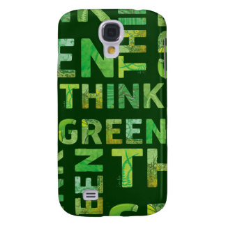THINK green - letters 3 Galaxy S4 Case