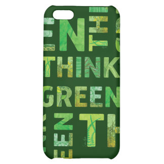 THINK Green Letters 4 Case For iPhone 5C