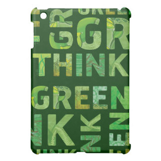 THINK green - letters  iPad Mini Cases