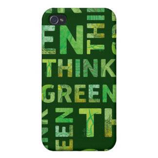 THINK Green Letters iPhone 4/4S Case