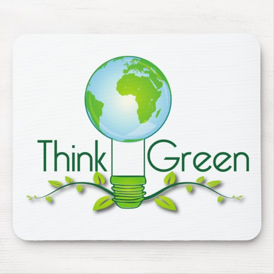 think_green mouse pad