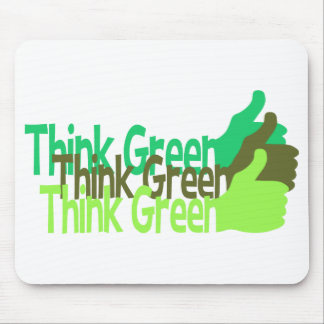 Think Green mousepad, customizable Mouse Mat